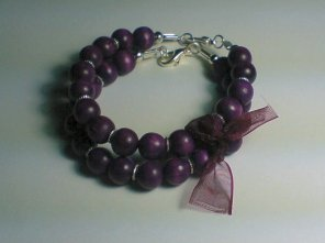 Purple Wooden Bracelet