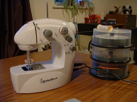It's a Mini Sewing Machine