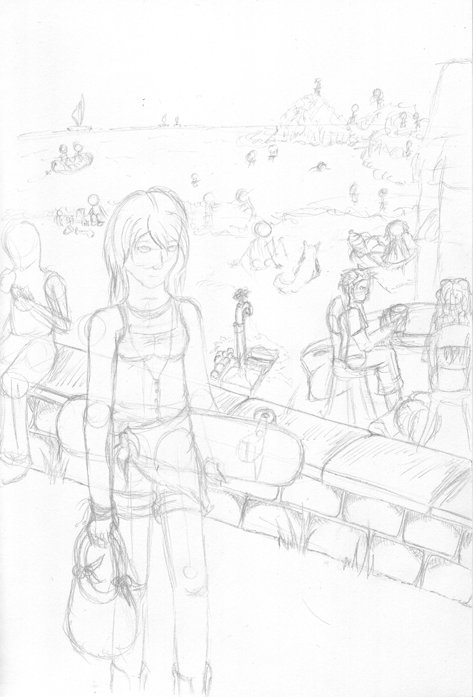 Sunny Day At The Beach - WIP